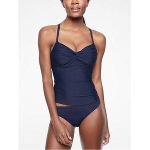 Athleta Twist Up Tankini Swim Top in Dress Blue